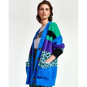 Wardigan Stripe/Animal Cardi Persian Sky/Multi
