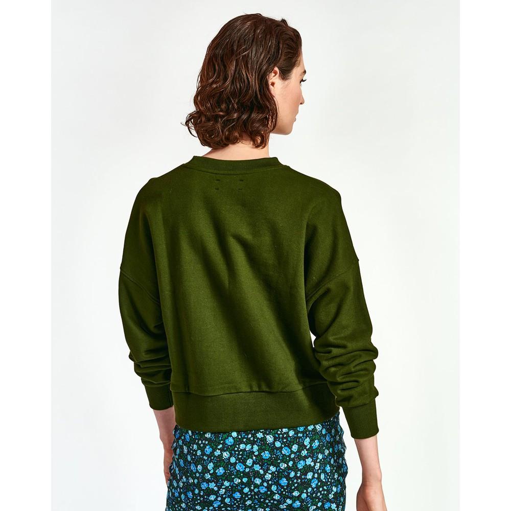 Essentiel Antwerp Warkle Sparkle Sequin Sweater Palace Green/Blue