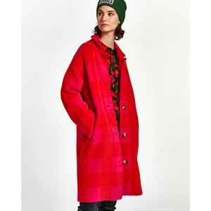 Wice Check Cardi Coat Virtual Pink/Red