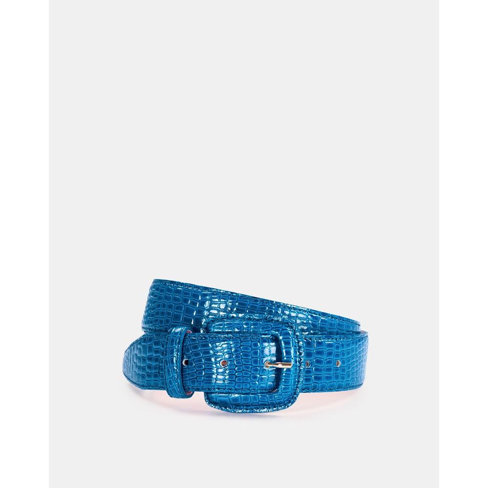 Essentiel Antwerp Wree Patent Snake Belt Persian Sky