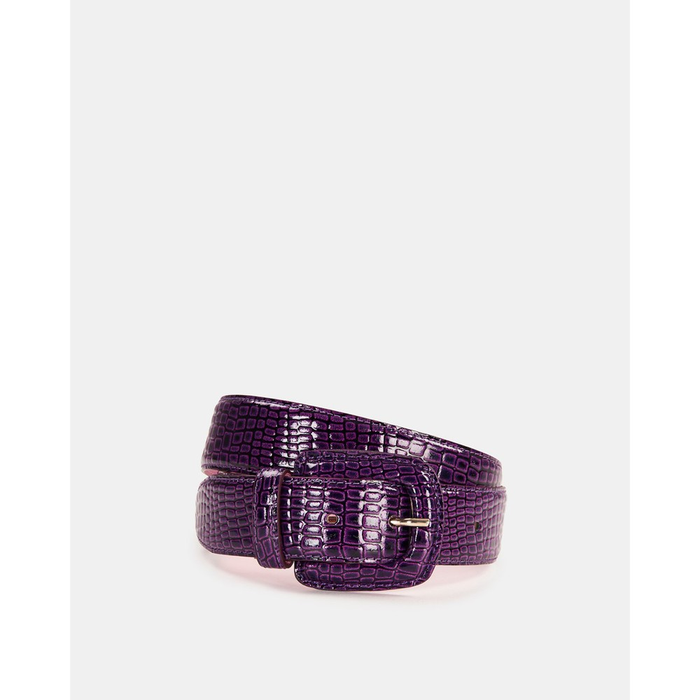 Essentiel Antwerp Wree Patent Snake Belt Purple Rain
