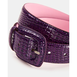 Wree Patent Snake Belt Purple Rain