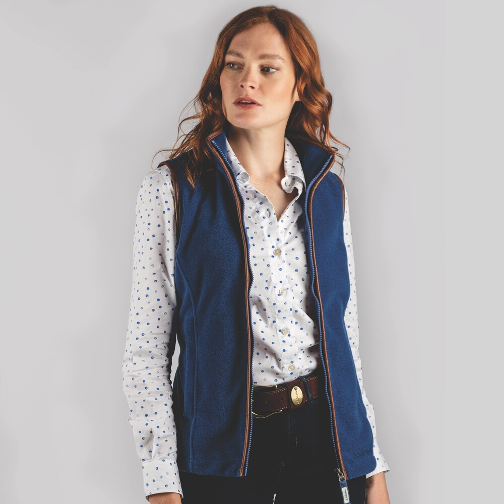 Schoffel Country Lyndon II Fleece Gilet Cobalt Blue