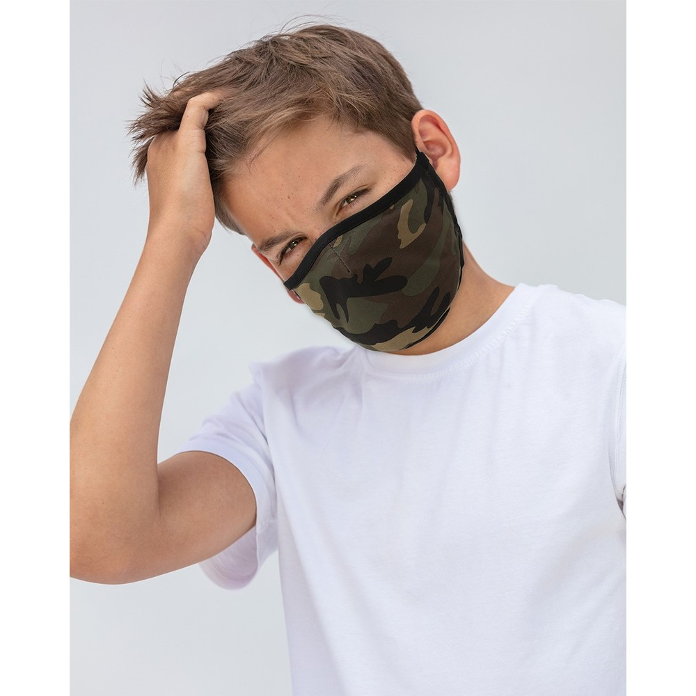 Breathe Adult Face Mask Green Camo