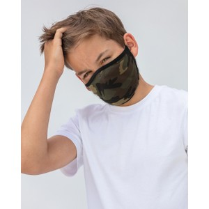 Breathe Adult Face Mask in Green Camo