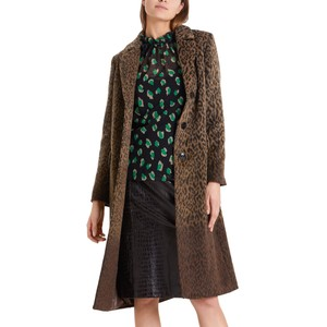 Ombre Leopard Long Coat Rooibos