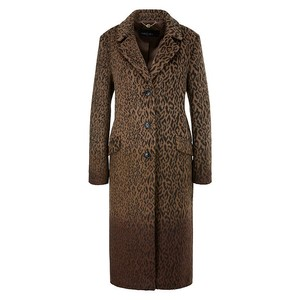 Marc Cain Ombre Leopard Long Coat Rooibos