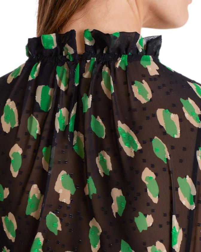 Marc Cain Sheer Leopard Blouse w Slip Woodruff