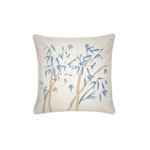 Bambou Cushion -100% Cotton White