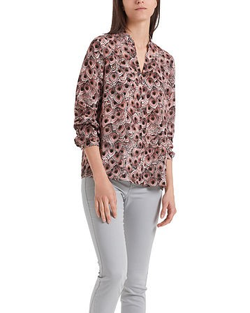 Marc Cain Peacock Feathers Blouse Dusty Rose