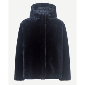 Sabel Faux Fur Hooded Jacket Midnight Navy