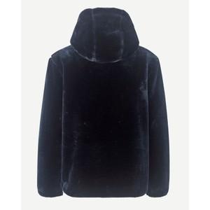Samsoe Samsoe Sabel Faux Fur Hooded Jacket Midnight Navy