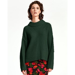 Wingle O/Size Chunky Knit Palace Green