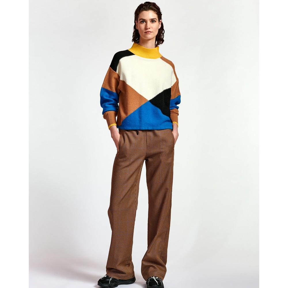 Essentiel Antwerp Wox Colour Block Sweater Persian Sky/Cream/Multi