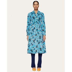 Reflection Flower Wrap Dress Cosmos/Blue