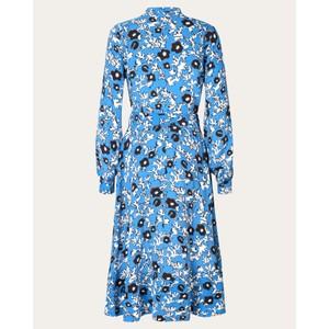 Stine Goya Reflection Flower Wrap Dress Cosmos/Blue