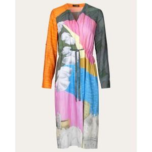 Camilla V-neck Shirt Dress Landscape/Multi