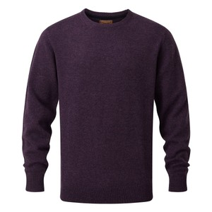 Lambswool Crew Neck Jumper Prune
