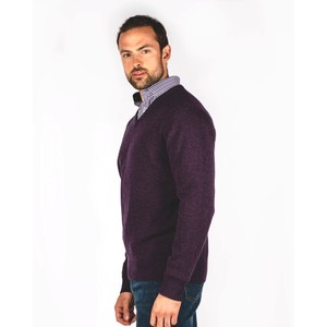 Schoffel Country Lambswool V Neck Prune