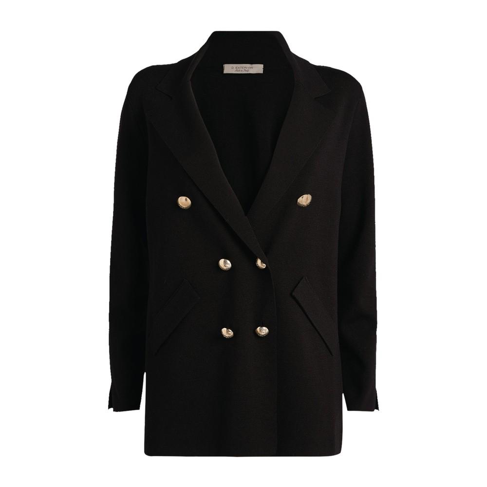 D Exterior Blazer Style Jacket Black