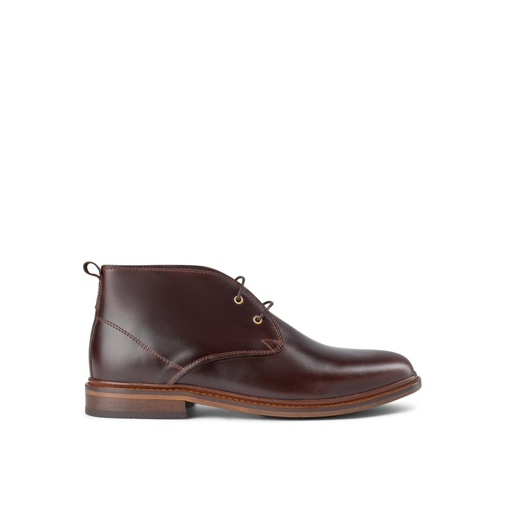 Shoe The Bear Phoenix Leather Lace Up Boot Brown
