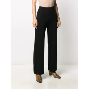 Hi Wst Wide Leg Crop Trousers Black