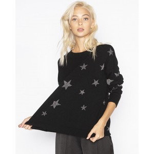 Letoile Stars Jumper Black