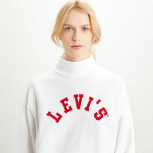Levis Gardenia Varsity Sweatshirt Off White