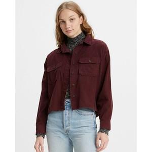 Olsen Utility Cord Shirt Malbec Cord
