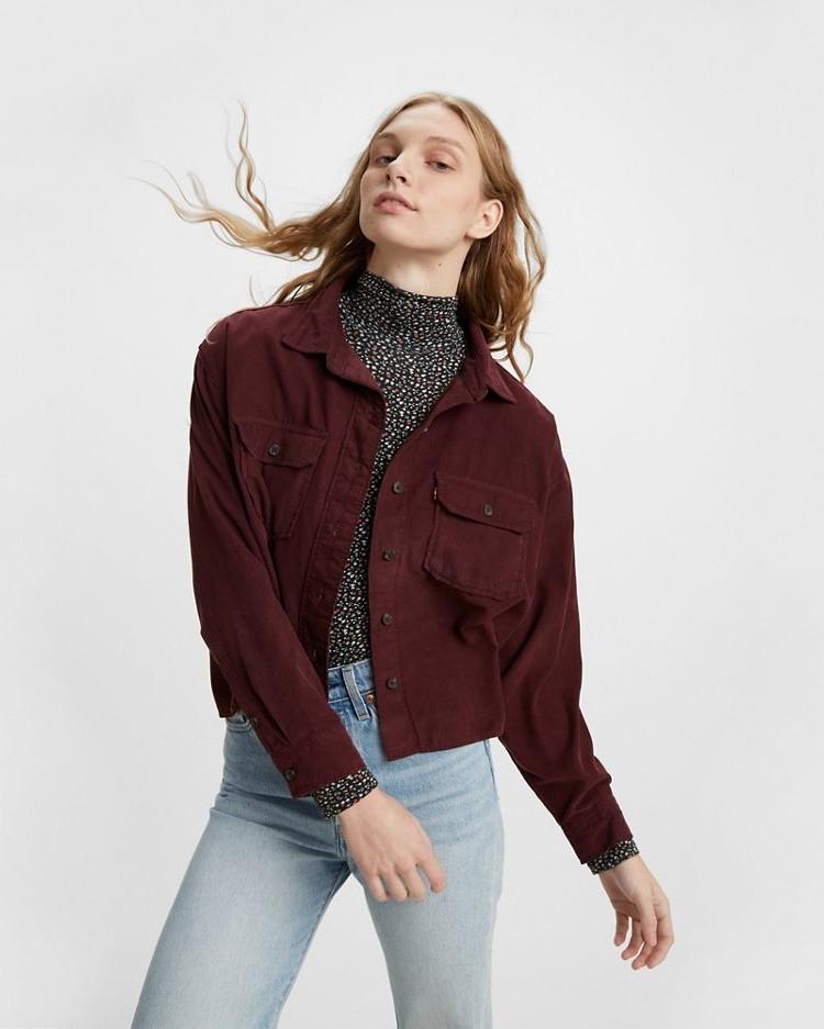 Levis Olsen Utility Cord Shirt Malbec Cord