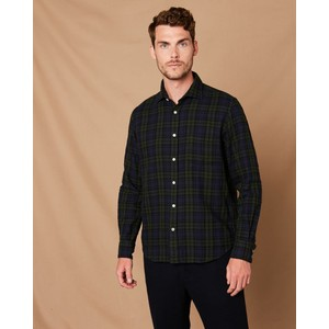 Paul Tartan Shirt Navy/Green