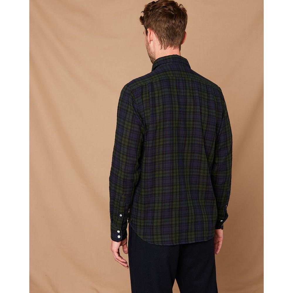 Hartford Paul Tartan Shirt Navy/Green