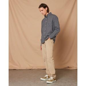 Hartford Penn Micro Check Cotton Shirt Blue/Navy