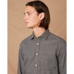 Hartford Paul 1 Pocket Cotton Shirt Charcoal Melange