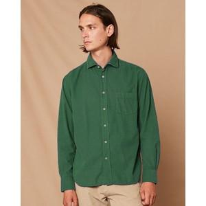 Paul Pat 1 Pkt Cotton Shirt Bottle Green