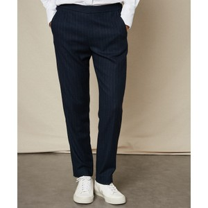 Paolo Pinstripe Trousers Navy/Chalk