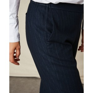 Hartford Paolo Pinstripe Trousers Navy/Chalk
