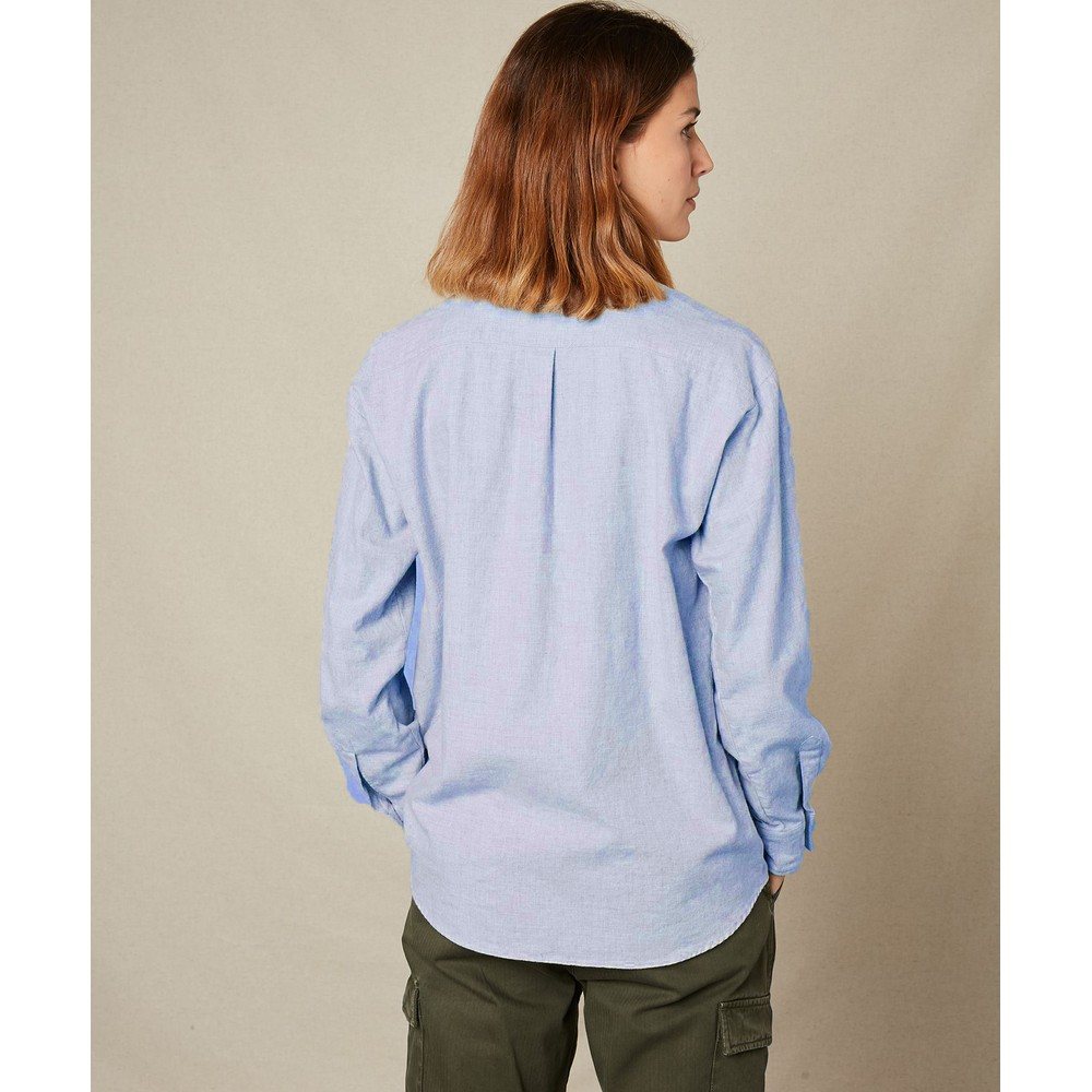 Hartford Charlot Cotton Shirt Light Blue