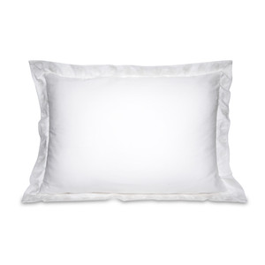 Jungle Leaf Cotton Pillow Cases - 2 Pack White