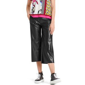 Wide Crop Faux Leather Trs Moro