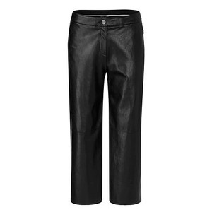 Marc Cain Wide Crop Faux Leather Trs Moro
