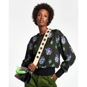 Wesp Floral Spot Top-Rib Trim Black/Purple