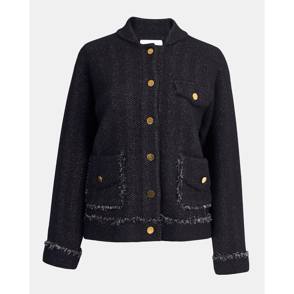 Essentiel Antwerp Wew Lurex Cardigan Black