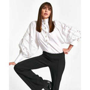 Witching Emb Puff Slv Shirt White