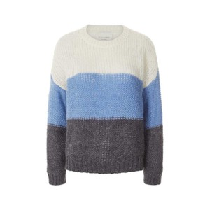 Lollys Laundry Terry Bold Stripe Jumper Blue/White/Charcoal