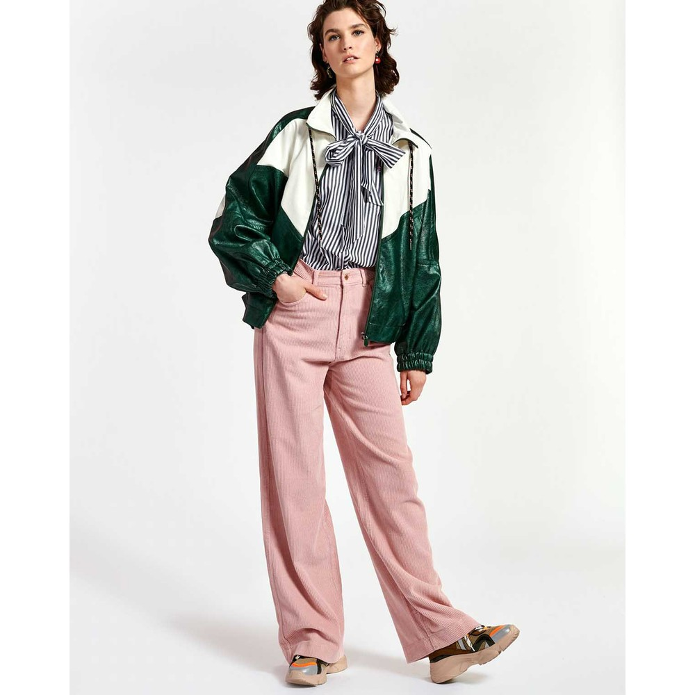 Essentiel Antwerp Whipped Wide Leg Cords Orchid Hush