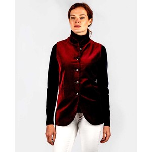 Ladies Nehru Waistcoat Ruby