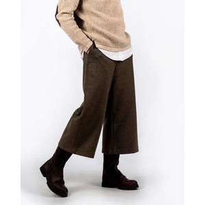 Tweed Culottes Loden Green H/Bone Tweed