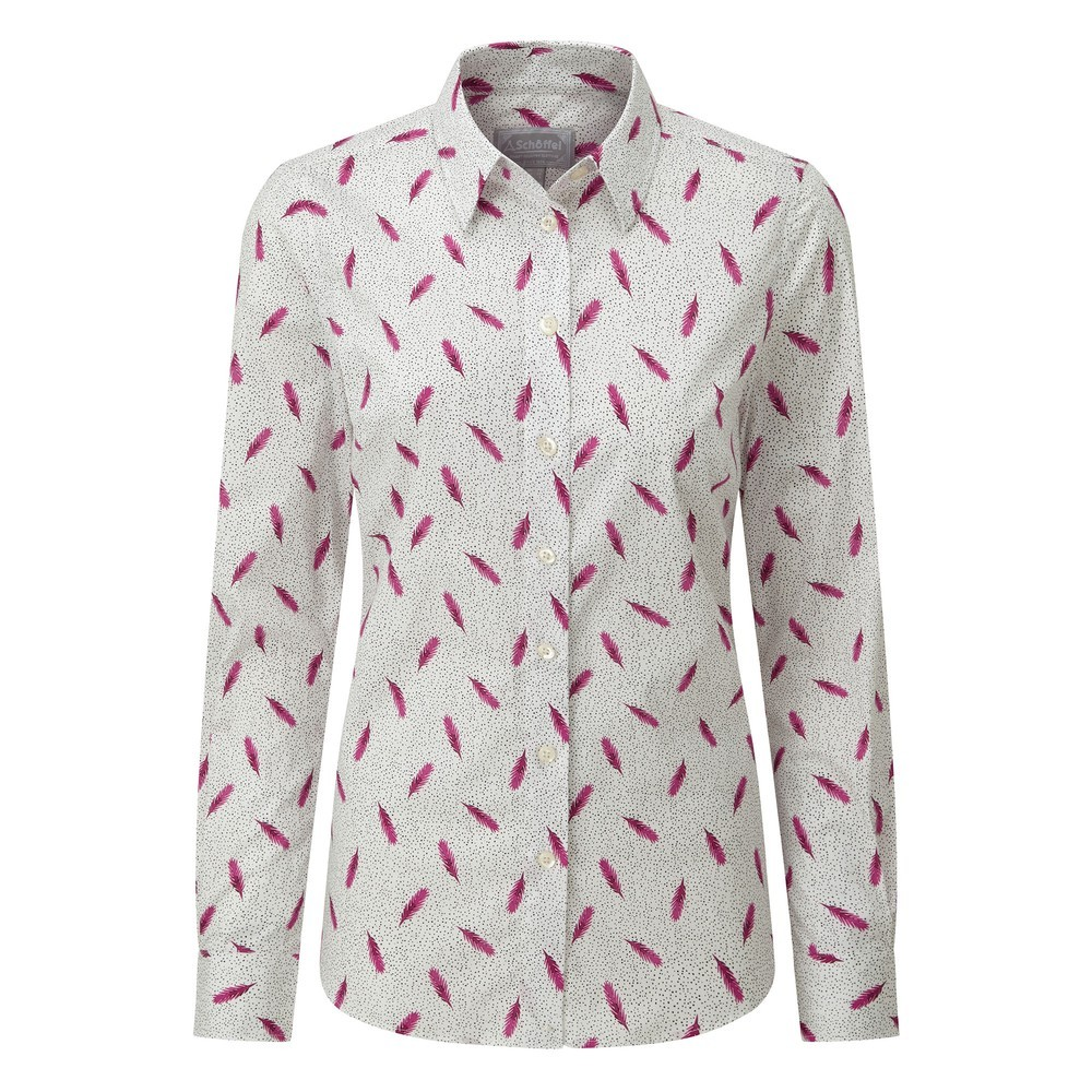 Schoffel Country Norfolk Shirt Sprig Raspberry