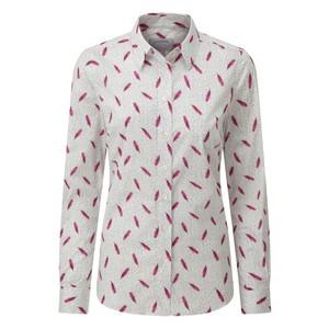 Norfolk Shirt Sprig Raspberry